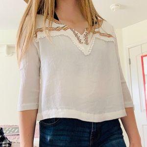 White crop-blouse